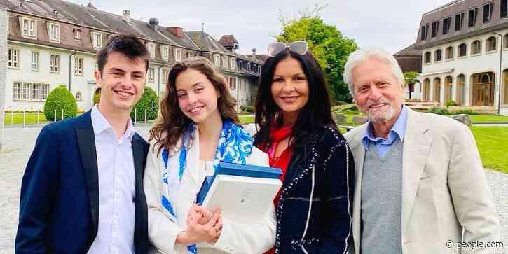 Michael Douglas and Catherine Zeta-Jones Celebrate Daughter Carys' Graduation: We're 'So Proud' - PEOPLE