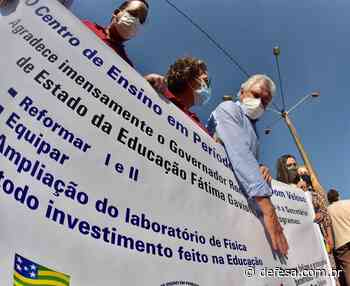 Assinada OS para reforma de quadra escolar em Itumbiara - Defesa - Agência de Notícias
