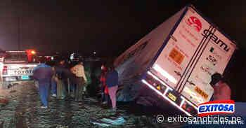 Dos fallecidos tras choque entre automóvil y camión en Virú - exitosanoticias