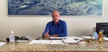 Prefeito de Ouro Fino Henrique Wolf concede entrevista ao vivo para a TVN Campobelo - Observatório de Ouro Fino