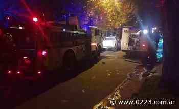 Video: se incendió una vivienda en Punta Mogotes - 0223 Diario digital de Mar del Plata