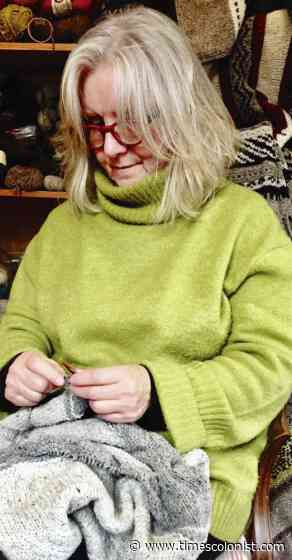 North Saanich author gets to the heart of what makes Canadians tick — and knit - Times Colonist