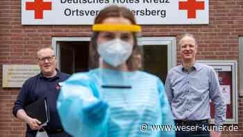 Das Corona-Testzentrum des DRK in Ottersberg wird sehr gut angenommen - WESER-KURIER - WESER-KURIER