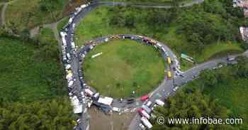 Autoridades lograron el desbloqueo de la vía La Romelia en Dosquebradas, Risaralda - infobae