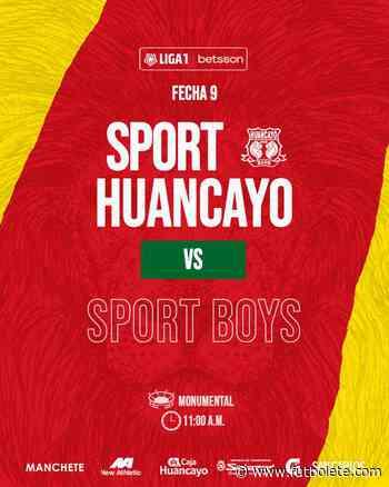 Ver en vivo Sport Huancayo vs Sport Boys por la fecha 9 de la Liga 1 de Perú - Futbolete