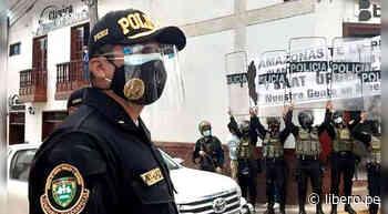 Chachapoyas: PNP utiliza escudos para entorpecer pedido de oxígeno durante visita de Sagasti - Libero.pe