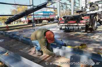 Avanza la construcción del tinglado para el playón deportivo de Paso del Rey - Zona Norte Diario Online