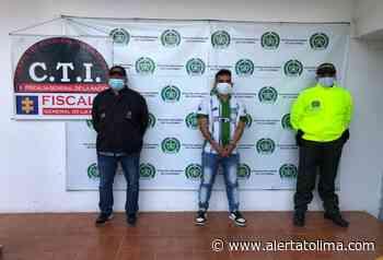 Por doble sicariato perpetrado hace pocos días en Chaparral le dieron captura a alias 'Pacheco' - Alerta Tolima