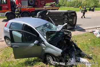 Frontale tra auto a Ghedi, tre persone ferite - Giornale di Brescia