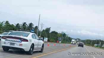 Montan operativo de vigilancia migratoria en la carretera Chetumal-Felipe Carrillo Puerto - PorEsto