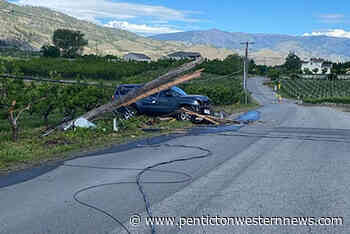 Osoyoos man destroys power pole in collision, knocks out power – Penticton Western News - Penticton Western News