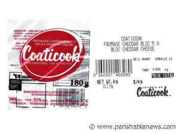 Certain Coaticook Brand Cheddar Cheese Recalled Due to Listeria Monocytogenes - PerishableNews