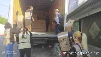 Llegan paquetes electorales al Consejo Distrital de Tecamachalco - Municipios Puebla