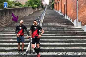 Da's pas afzien! Rik en Kevin beklimmen drie keer Mount Everest … op trappen in Luik