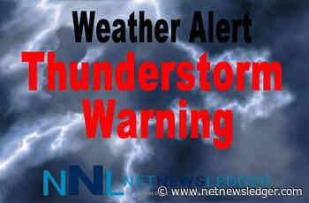 May 21, 2021 - Severe Thunderstorm Watch - Fort Frances - Atikokan - English River - Shebandowan - Net Newsledger