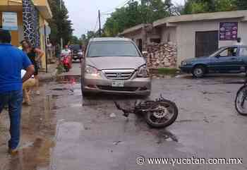 Solo daños materiales: meridana choca a motociclista, de paseo en Izamal - El Diario de Yucatán