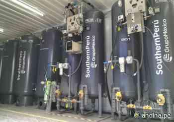 Arequipa: planta móvil de oxígeno medicinal de Mollendo reanudó operaciones - Agencia Andina