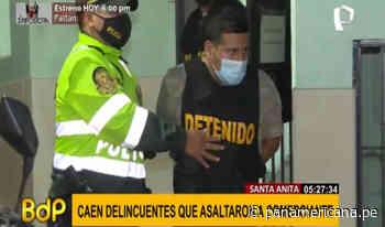 Santa Anita: capturan a delincuentes que robaron más de 25 mil soles a comerciante | Panamericana TV - Panamericana Televisión
