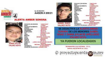 Aparecen con vida hermanos Aylyn y Daniel; desactivan Alerta Amber en Cananea - Proyecto Puente