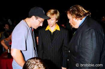1994 Clip Of Chris Farley, Adam Sandler, Cindy Crawford At Dinner - BroBible