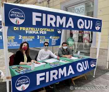 SANTA MARIA CAPUA VETERE, FRATELLI D'ITALIA RACCOGLIE FIRME A PIAZZA BOVIO - Appia Polis