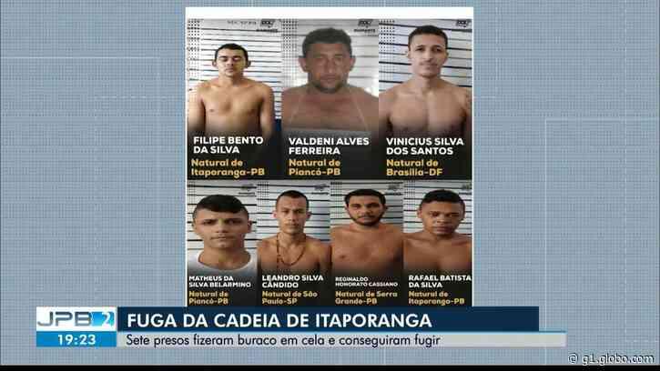 Três detentos que fugiram da Cadeia Pública de Itaporanga, no Sertão da PB, são recapturados - G1