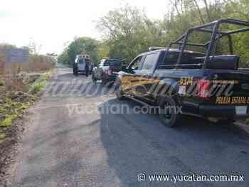Accidente en la vía Ticul-Sacalum con saldo de un motociclista lesionado - El Diario de Yucatán