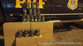 Importação ilegal PRF apreende 480 latas de fumo de mascar em Cajati/SP 24/05/2021 - Adilson Cabral