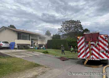 Kamloops fire crews battling blaze in house in Westmount, near Halston Bridge - Kamloops News - Castanet.net