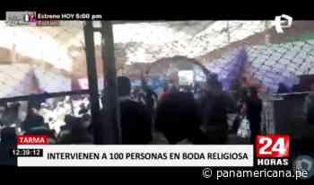 Tarma: intervienen a más de 100 personas en boda | Panamericana TV - Panamericana Televisión