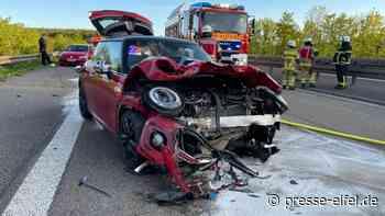 Verkehrsunfall durch illegales Einzelrennen auf der A1 bei Mechernich - Presse-Eifel - Presse-Eifel