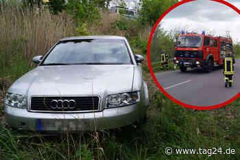 Unfall in Bitterfeld-Wolfen: Audi fährt in Böschung - Insasse muss reanimiert werden - TAG24