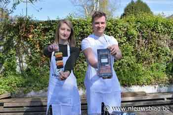 Nergens groentebrochettes voor barbecue te vinden, dus maken en verkopen Hanne en David er zelf