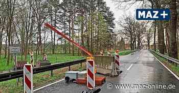 Keine Lust auf Umleitung: Autofahrer beschädigen Schranke auf B246 in Beelitz - Märkische Allgemeine Zeitung