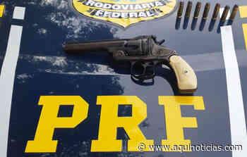 PRF prende motorista com arma de fogo na BR 262, em Ibatiba - Aqui Notícias - www.aquinoticias.com