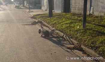Un hombre cayó de su bicicleta en barrio El Molino: Fue asistido y trasladado al Hospital - InfoPico.com