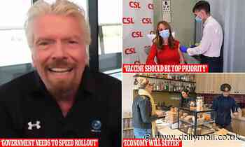 Sir Richard Branson urges Australian government to speed up vaccine rollout and reopen borders - Daily Mail