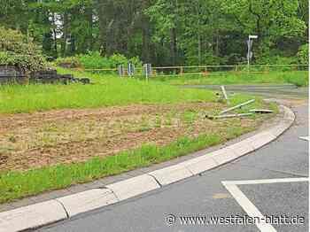 Verkehrsschilder umgefahren - Westfalen-Blatt