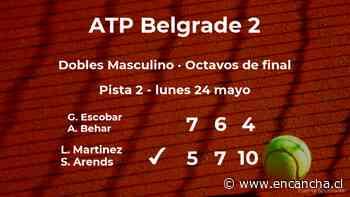 Los tenistas Martinez y Arends se clasifican para los cuartos de final del torneo ATP 250 de Belgrado - EnCancha.cl