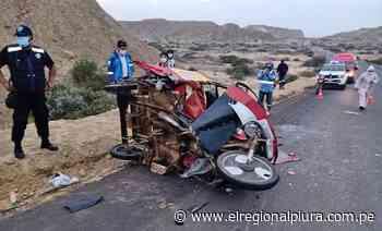 Accidente de tránsito deja un mototaxista herido en la vía Talara - Negritos - El Regional