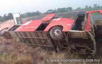 Vuelca autobús en Cosamaloapan; hay al menos siete lesionados - El Sol de México