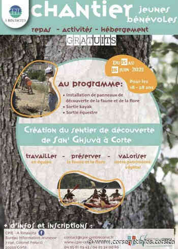 Corte : participez au chantier jeunes bénévoles   Brèves - Corse Net Infos