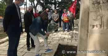 Elus et communistes de Port-de-Bouc honorent la mémoire d'Ambroise Croizat pour les 75 ans de la Sécu - Journal La Marseillaise