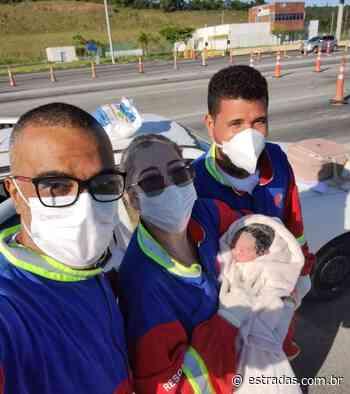 Bebê Maitê nasce no pedágio da BA-524, em Candeias (BA) - Estradas