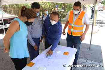 Supervisan autoridades municipales labores de recarpeteo en Colinas del Sol - entrelineas