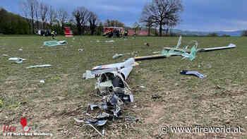 D: Pilot bei Absturz eines Segelflugzeuges bei Horn-Bad Meinberg ums Leben gekommen - Fireworld.at