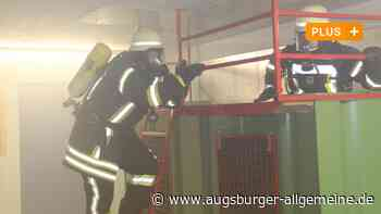 Viel Rauch, viel Schweiß: So werden Feuerwehrleute in Mindelheim ausgebildet - Augsburger Allgemeine