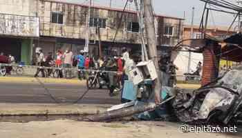 Zulia | Dos jóvenes mueren calcinados en accidente de tránsito en Ciudad Ojeda - El Pitazo