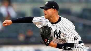 Yanks' Kluber exits start with shoulder tightness