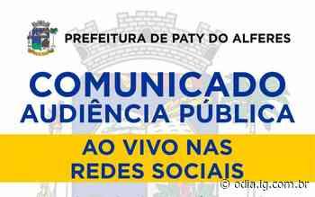 Prefeitura de Paty convida população para Prestação de Contas - Jornal O Dia